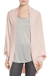 Nordstrom Women's Knit Cocoon Cardigan Pink Crystal