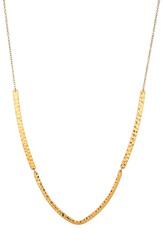 Gorjana 'Amanda' Hammered Pendant Necklace Gold