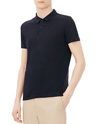 Sandro Beach Classic Fit Polo Shirt Marine