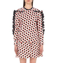 Victoria Beckham Strawberry Jacquard Woven Top Graphic Strawberry Ivory
