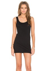 Bobi Light Weight Jersey Open Back Sleeveless Mini Dress Black