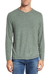 Tommy Bahama Men's 'Leeward' V Neck Long Sleeve T Shirt Dill