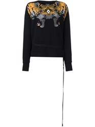 Marcelo Burlon County Of Milan Abstract Print Sweatshirt Black
