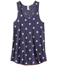 Alternative Apparel Printed Meegs Racer Tank Stars Women's Sleeveless Multi