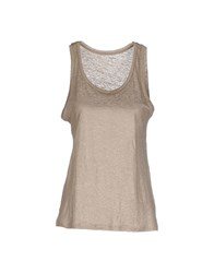 Majestic Topwear Vests Women Beige