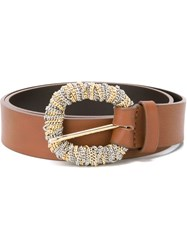 Orciani Chain Buckle Belt Brown