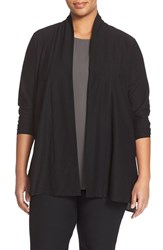 Plus Size Women's Eileen Fisher Lightweight Straight Cut Cardigan