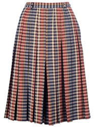 Mani Vintage Check Print A Line Skirt Red