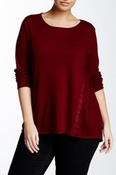 Lucky Brand Inset Lace Tunic Plus Size Red