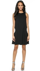 Lisa Perry Sleeveless Circle Dress Black White