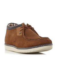 Original Penguin Narate Suede Cleated Low Top Boots Tan