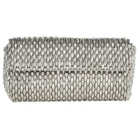 Jacques Vert Metallic Beaded Clutch Bag Metallic