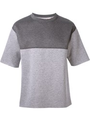 Marni Panelled Boxy T Shirt Grey