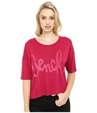 Bench Speechifying Relaxed Tee Shirt Sangria Women's T Shirt Red