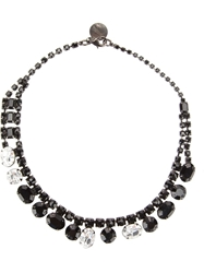 Tom Binns Asymmetric Crystal Necklace Black