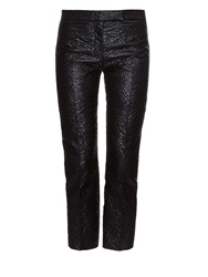 Alexander Mcqueen Floral Padded Jacquard Kick Flare Trousers