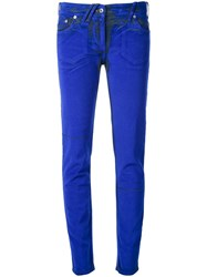 Courreges Stretch Skinny Trousers Blue