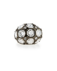 Crystal Octagon Cocktail Ring St. John Collection