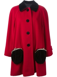 Moschino Vintage Purse Pocket Coat Red