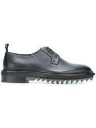 Lanvin Ridged Sole Derby Shoes Black