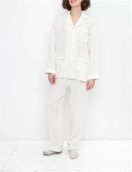 Creatures Of Comfort Pajama Set Washed Linen White Natural