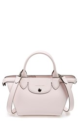 Longchamp 'Small Le Pliage Heritage' Leather Satchel