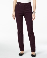 Styleandco. Style Co. Tummy Control Colored Wash Straight Leg Jeans Only At Macy's Dried Plum