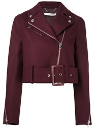 Givenchy Cropped Belted Jacket Red