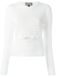 Giambattista Valli Floral Lace Jumper White