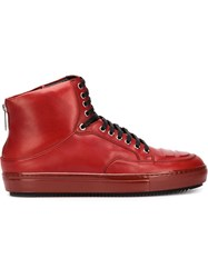Alejandro Ingelmo 'Jeddi' Hi Top Sneakers Red