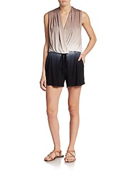 Young Fabulous And Broke Myla Tie Dyed Short Jumpsuit Black Tan