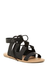 Mia Delpine Lace Sandal Black