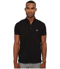 The Kooples Sport Classic Pique Polo Black Men's Clothing