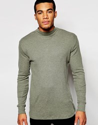 New Look Turtle Neck Jumper In Khaki
