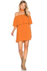 Reverse Chloe Ruffle Choker Dress Orange