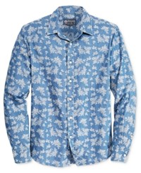 American Rag Men's Tropical Print Long Sleeve Shirt Only At Macy's Blue