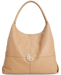 Tommy Hilfiger Jaclyn Casual Leather Hobo Caramel
