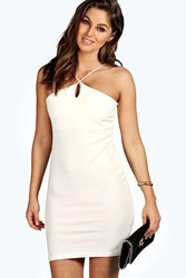 Boohoo Alyssa Cross Strap Bodycon Dress White