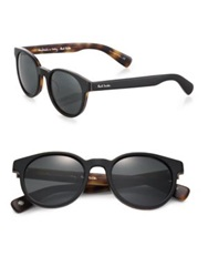 Paul Smith Wayden 51Mm Round Sunglasses Black Tortoise