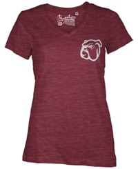 Royce Apparel Inc Women's Mississippi State Bulldogs Logo T Shirt Maroon