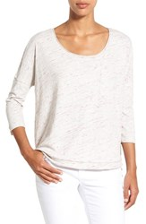 Caslon Women's Space Dye Cotton Blend Pocket Tee