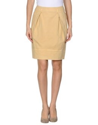 Cappellini Knee Length Skirts Light Yellow