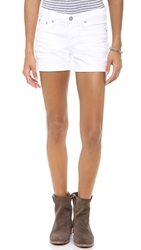 Ag Adriano Goldschmied Hailey Ex Boyfriend Cuffed Shorts 1 Year White