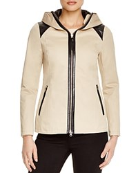 Mackage Kelsie Leather Trimmed Jacket Sand