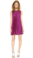 Tess Giberson Pleated Trapeze Dress Fuchsia