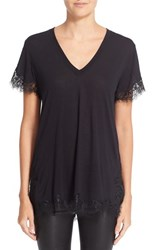 Helmut Lang Women's Lace Trim Tee