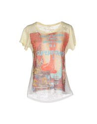 Sexy Woman Topwear T Shirts Women Yellow