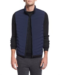 Theory Corick Lightweight Puffer Vest New Navy