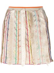 Missoni Fringe Detail Skirt Nude And Neutrals