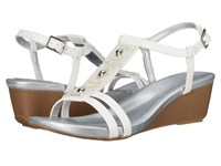 Bandolino Hettie White Synthetic Women's Sandals